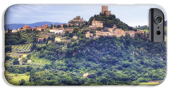 Ancient Ruins iPhone Cases - Tuscany - Castiglione dOrcia iPhone Case by Joana Kruse