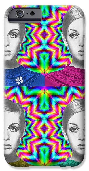 Twiggy iPhone Cases - Twiggy iPhone Case by Alexander Gilbert