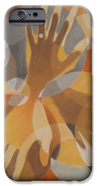 Couple Pastels iPhone Cases - Blended Love iPhone Case by Grady Simmons