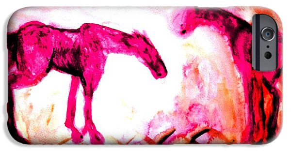 Component Paintings iPhone Cases - Two Of A Kind iPhone Case by Hilde Widerberg
