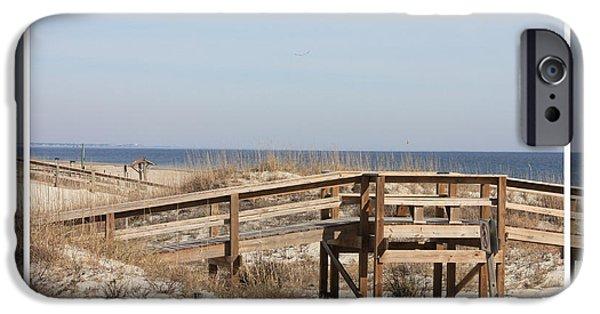 Tybee Island iPhone Cases - Tybee Island Boardwalks iPhone Case by Carol Groenen