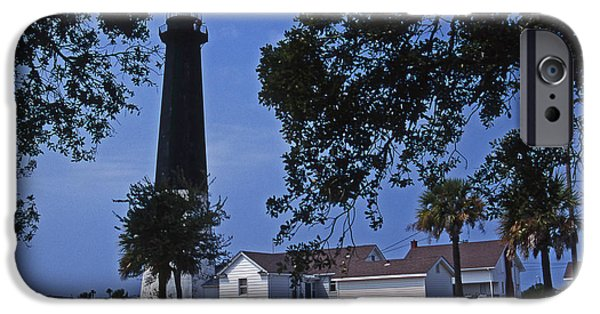 Tybee Island iPhone Cases - Tybee Island Lighthouse iPhone Case by Skip Willits