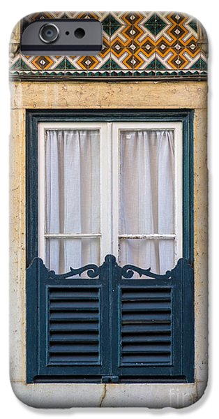White Frame House iPhone Cases - Typical Window iPhone Case by Carlos Caetano