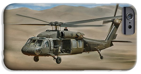 Middle East iPhone Cases - UH-60 Blackhawk iPhone Case by Dale Jackson