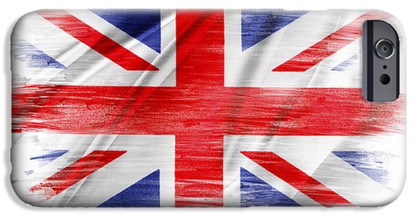 Flag iPhone Cases - UK flag iPhone Case by Les Cunliffe