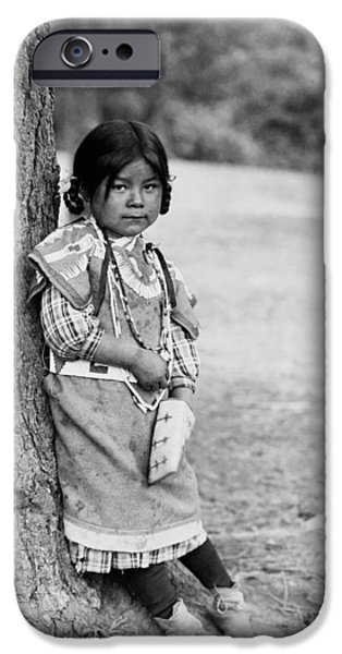 Innocence Photographs iPhone Cases - Umatilla girl circa 1910 iPhone Case by Aged Pixel