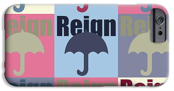 Copy Mixed Media iPhone Cases - Umbrella in pop art  iPhone Case by Toppart Sweden