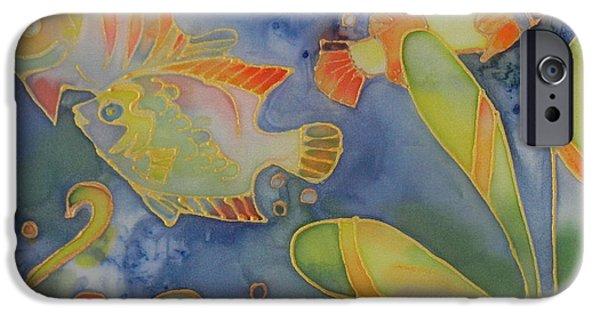 Plant Tapestries - Textiles iPhone Cases - Underwater Life iPhone Case by Ruta Naujokiene