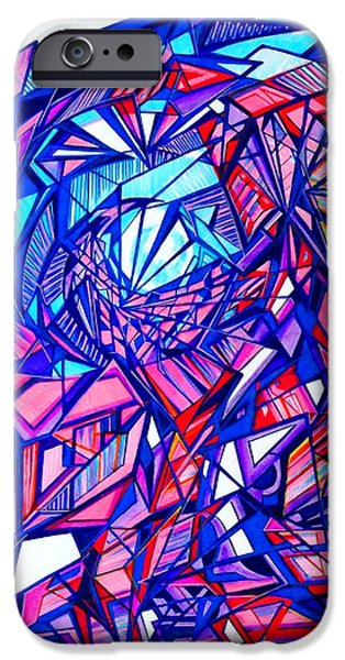 Abstract Digital Drawings iPhone Cases - Untitle iPhone Case by The Door Project