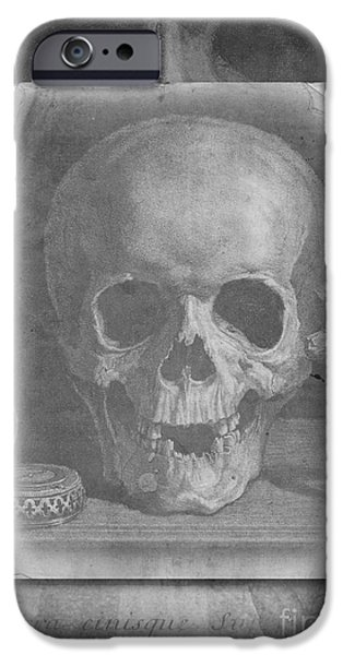 Concept Photographs iPhone Cases - Untitled Skull iPhone Case by Edward Fielding