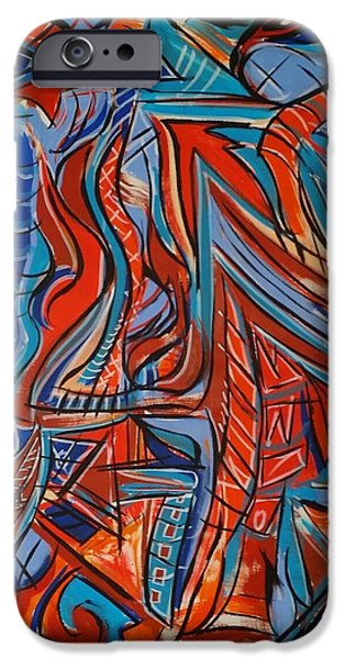 Multiple Personalities iPhone Cases - Untitled iPhone Case by Jeff Juliano