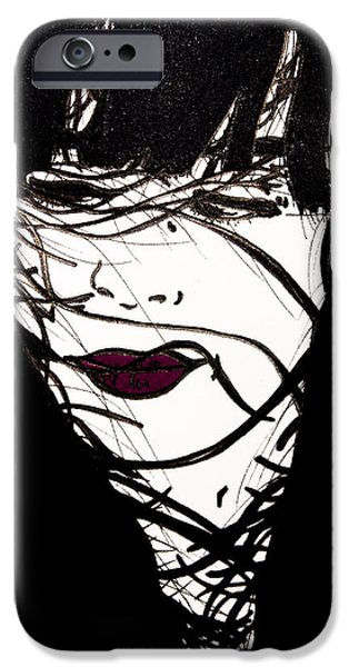 Figures iPhone Cases - Untitled  iPhone Case by Karin Celeste