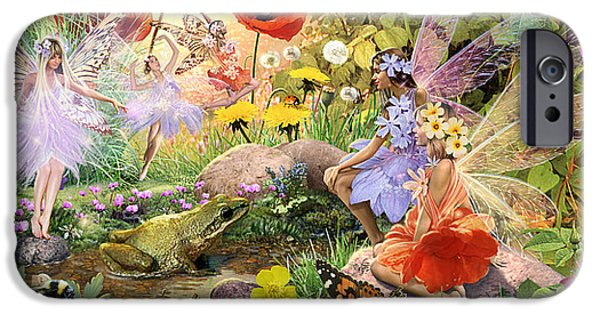 Summer iPhone Cases - Fairies and Frog Prince iPhone Case by Steve Read