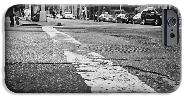Asphalt iPhone Cases - Urban Life - Ground Level iPhone Case by Ryan McGuire