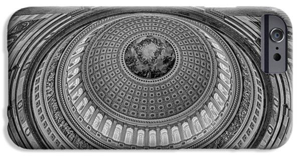 D.c. iPhone Cases - US Capitol Rotunda iPhone Case by Susan Candelario