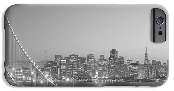 Bay Bridge iPhone Cases - Usa, California, San Francisco, Bay iPhone Case by Panoramic Images