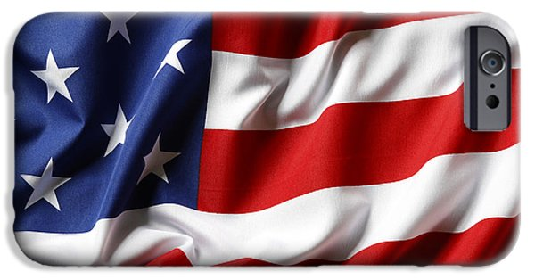Flag iPhone Cases - USA flag iPhone Case by Les Cunliffe