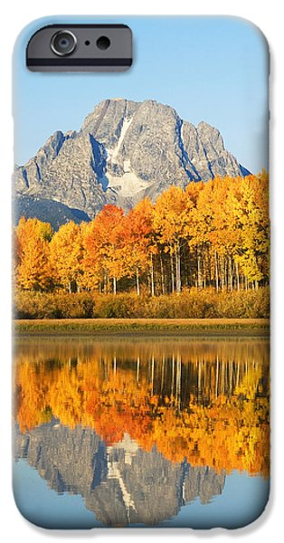 Beautiful Autumn Day iPhone Cases - Usa, Grand Teton National Park Wyoming iPhone Case by Ron Dahlquist