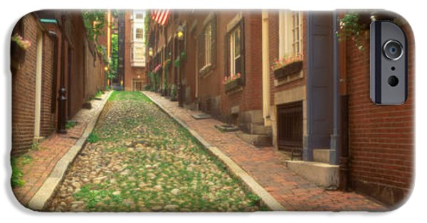Boston Ma iPhone Cases - Usa, Massachusetts, Boston, Beacon Hill iPhone Case by Panoramic Images