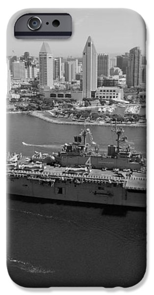 USS Boxer in San Diego  iPhone Case by Mountain Dreams