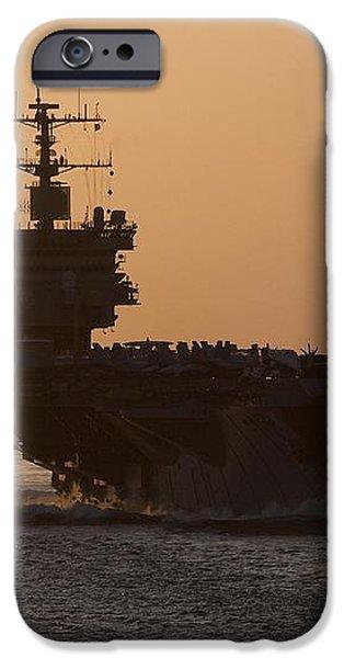 USS Enterprise iPhone Case by Mountain Dreams