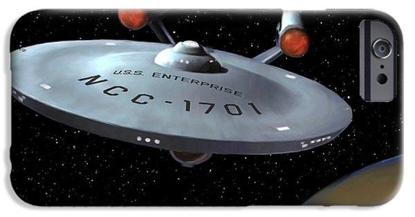 Enterprise iPhone Cases - USS Enterprise iPhone Case by Paul Tagliamonte