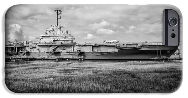 Yorktown iPhone Cases - U.S.S Yorktown iPhone Case by Doug Long