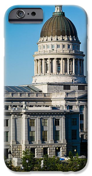 Capitol Hill iPhone Cases - Utah State Capitol Building, Salt Lake iPhone Case by Panoramic Images