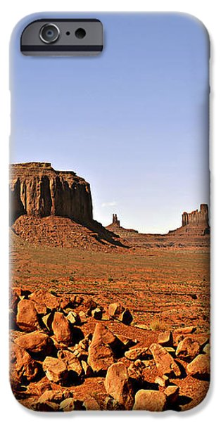 Utah's iconic Monument Valley iPhone Case by Christine Till