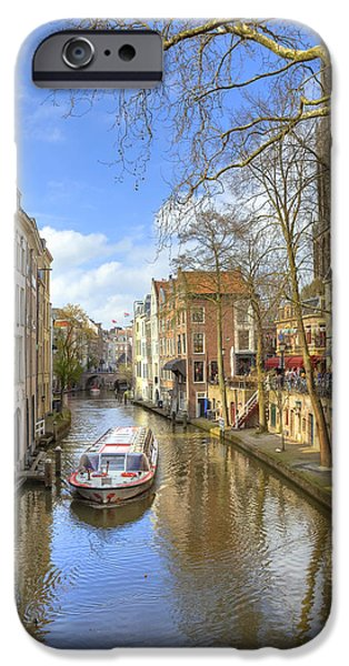 Boat Cruise iPhone Cases - Utrecht iPhone Case by Joana Kruse