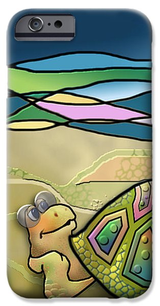 Recently Sold -  - Animation iPhone Cases - Vacationing Turtle iPhone Case by Ruta Naujokiene