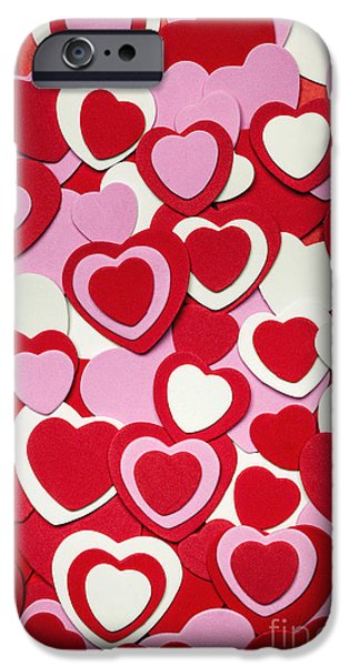 Shape iPhone Cases - Valentines day hearts iPhone Case by Elena Elisseeva