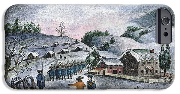 American Revolution iPhone Cases - Valley Forge: Winter, 1777 iPhone Case by Granger