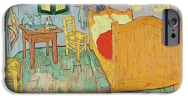 Arles iPhone Cases - Van Goghs Bedroom at Arles iPhone Case by Vincent Van Gogh