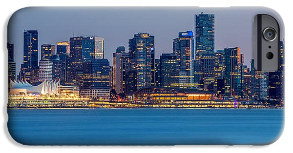 Burrard Inlet iPhone Cases - Vancouver city panorama iPhone Case by Pierre Leclerc Photography