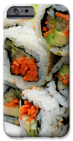 Vegetable Sushi iPhone Case by Amy Cicconi