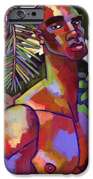 Figure iPhone Cases - Victor in the Forest iPhone Case by Douglas Simonson
