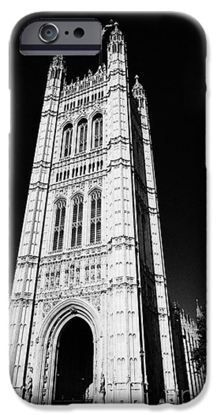 United iPhone Cases - victoria tower at the houses of parliament London England UK iPhone Case by Joe Fox