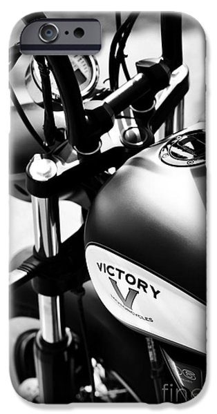 Victory iPhone Cases - Victory Motorbike iPhone Case by Tim Gainey