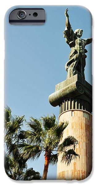 Tbilisi Photographs iPhone Cases - Victory statue in Puerto Banus iPhone Case by Luis Alvarenga