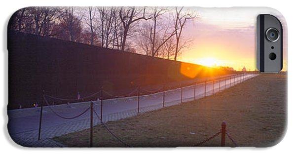 D.c. iPhone Cases - Vietnam Veterans Memorial At Sunrise iPhone Case by Panoramic Images
