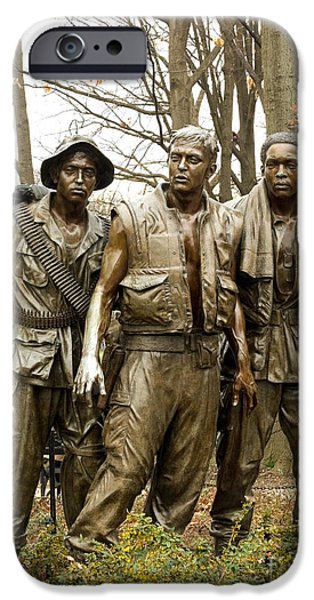 D.c. Mixed Media iPhone Cases - Vietnam War Memorial iPhone Case by Dt