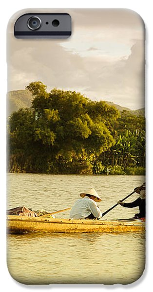 Vietnamese fishermen iPhone Case by Fototrav Print