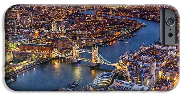 River View iPhone Cases - View from The Shard london iPhone Case by Ian Hufton