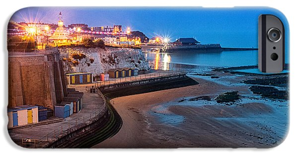 Beach At Night iPhone Cases - Viking Bay Broadstairs iPhone Case by Ian Hufton