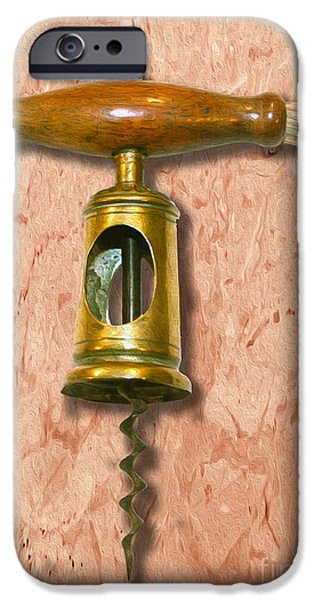 Antiques Mixed Media iPhone Cases - Chinnock Corkscrew Circa 1862  Painting iPhone Case by Jon Neidert