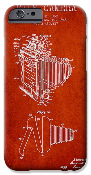 Vintage film camera patent from 1948 iPhone Case by Aged Pixel