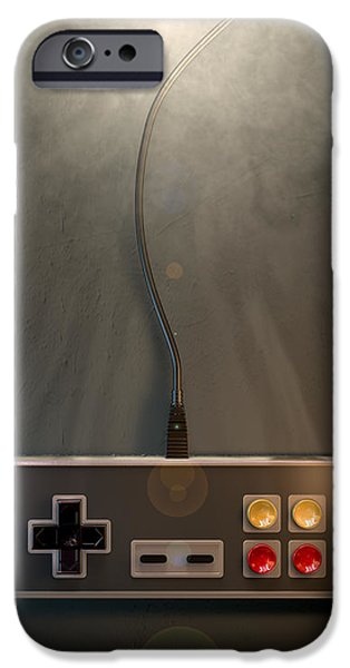 Electronic iPhone Cases - Vintage Gaming Controller iPhone Case by Allan Swart