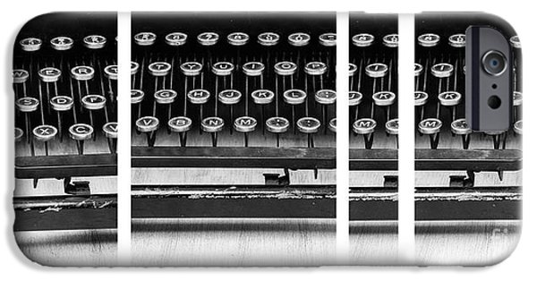 Typewriter Keys Photographs iPhone Cases - Vintage Typewriter iPhone Case by Edward Fielding
