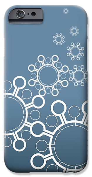 Pathogen iPhone Cases - Virus Particles, Conceptual Artwork iPhone Case by Robert Brocksmith